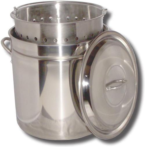 King Kooker 82 Qt Ridged Stainless Steel Pot W/basket & lid