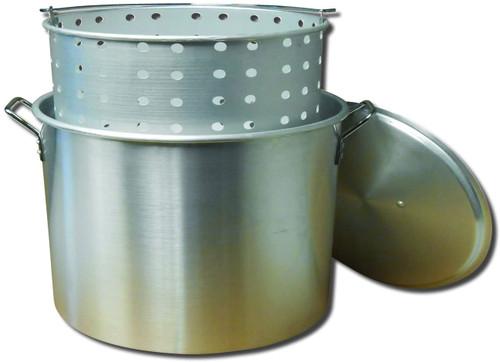 King Kooker 100QT Aluminum Boiling Pot with Lid & Basket