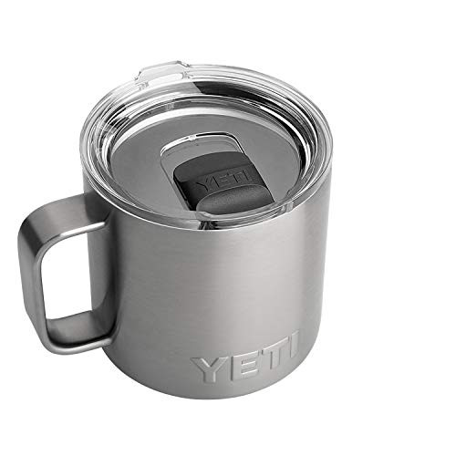 YETI Rambler 14 Oz Mug with MagSlider Lid in Stainless Steel