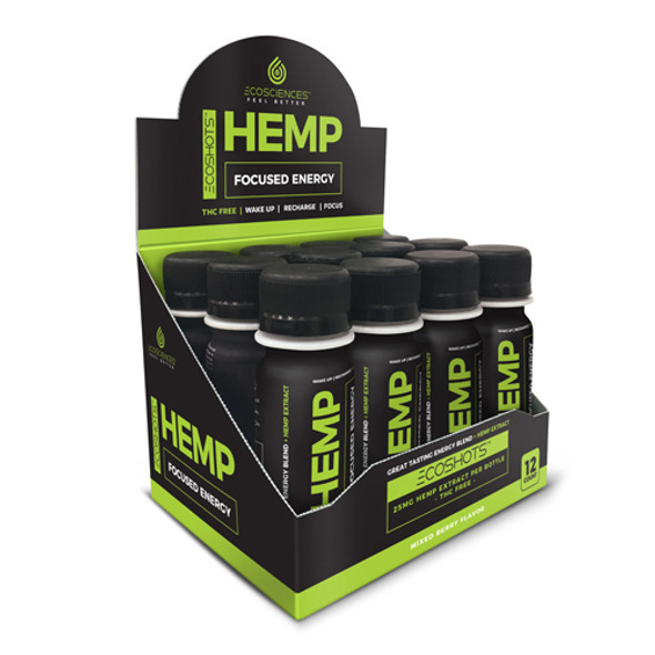 CBD Drip Ecoshot Focused ENergy is a hemp extract energy shot that delivers the get up and go energy you need to start your morning or get you over that midday hump. Gives you energy and focus you need without that jittery feeling. Thisdrink contains 25MG+ of Full Spectrum CBD-Rich whole plant cannabinoid products.