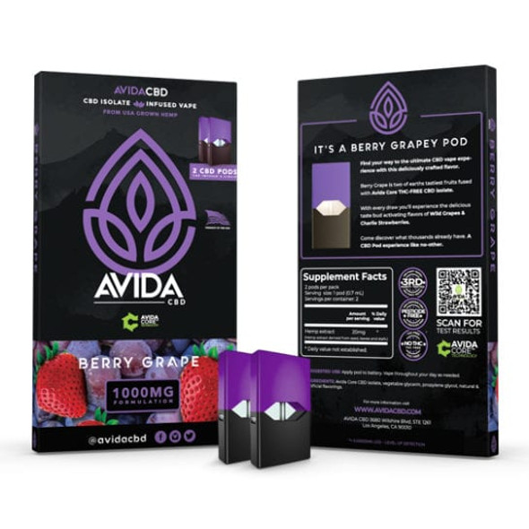 Made with our very own AVIDA Core CBD Isolate and our tasty proprietary blend of Wild Grapes and Charlie Strawberries made to perfection by our award-winning flavorist.A CBD Juice flavor you're definitely going to want to try.