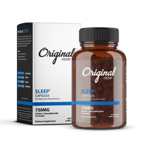 Infused with PharmaGABA®, Melatonin and 25mg Full Spectrum Hemp Extract. Our Sleep Formula Capsules are doctor formulated with high-quality ingredients that are designed to help you fall asleep and stay asleep naturally.