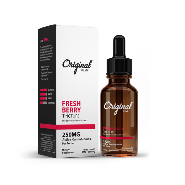 Our Fresh Berry Tincture is doctor formulated with a unique blend of high-quality Full Spectrum Hemp Extract, natural terpenes, and flavors that are designed to promote an overall sense of well-being.