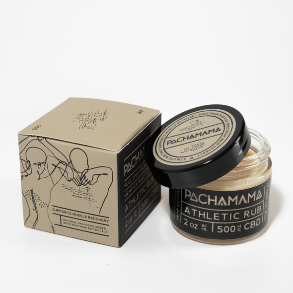 Pachamama CBD Athletic Rub is a plant-based skin moisturizer made with only ingredients that come from Mother Earth herself. This rub comprises of ethically produced shea butter and cacao butter that works to hydrate the body by protecting the integrity of your skin's lipid barrier. Coupled with 500mg of full-spectrum CBD and essential oils of lavender and peppermint plants, ourAthletic Rubsupports muscle recovery with the power of soothing yet revitalizing botanicals. Allow for complete absorption with this product to achieve the maximum benefits it has to offer. It can be used throughout the day, whenever you need it.