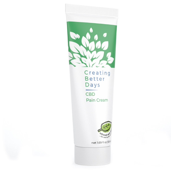 Infused with essential peppermint oils and menthol for those who prefer a calm, cooling sensation while naturally alleviating discomfort, Creating Better Days Infused CBD Topicals are alcohol-free, fast acting, and formulated with Nano-Amplified CBD. Also designed with pain relief, rejuvenation, and high absorption rates in mind, transdermal application of CBD allows for focused relief by activating the endocannabinoid system through the CB2 receptors near the surface of the skin. CBD topicals offer quick relief for sore muscles, joints, and inflammation. Safe, gentle, and effective, this formulation provides naturally occurring antioxidants to support a healthy endocannabinoid system. This formula and all Creating Better Days formulas are 100% THC-free and non-psychoactive.