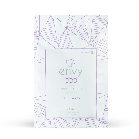 This 3-Pack Face Mask contains Full Spectrum CBD and several organic ingredients all designed to soften the face, preserve natural beauty, and protect against the natural progression of age. Each Face Mask has 10MG of CBD with a combined 30MG of Full Spectrum CBD in each 3-Pack.