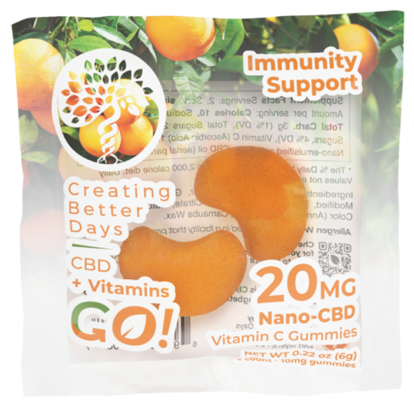 With a boost of immunity, CBD+Vitamin C offers extra protection against immune system deficiencies. Nano CBD plus Vitamin C for better immunity, whether you are at work or school when someone's sick.