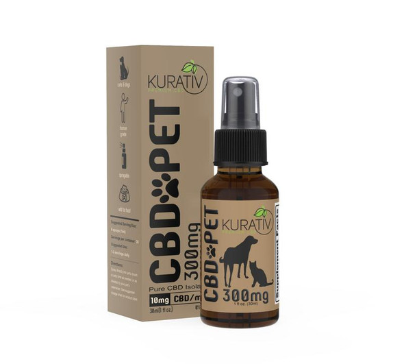 Kurativ CBD Pet Oil THC-Free Unflavored All Natural 150mg, 300mg, 600mg  Pet oil is formulated with the same ingredients and care that is given to any other product we produce. The endocannabinoid system is present in nearly all mammals.