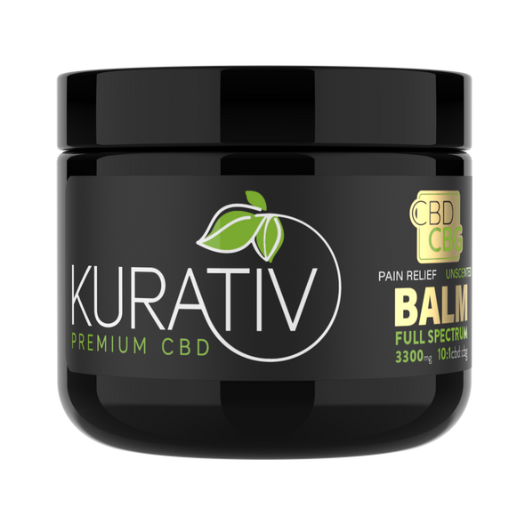 Kurativ'snourishingSkin Balm soothes, relieves, and hydrates your skin.We start with all natural, simple ingredients and then infuse with full spectrum cbd and cbg extracts. This highly concentrated balm is available in 1oz. and 4oz. jars.