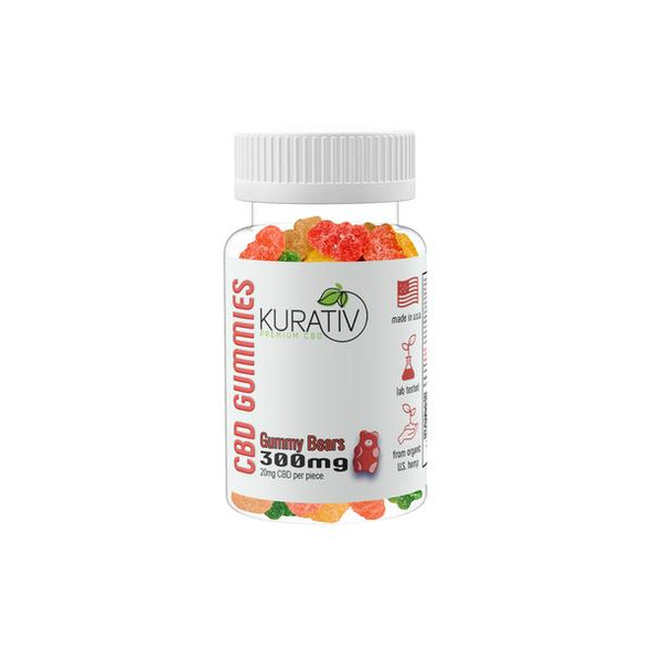 Kurativ CBD Gummies - 300mg, 500mg. Each gummie we craft is specially formulated using 99+% Pure CBD Isolate blended with yummy gummies! Each gummy is packed with 20 mg of CBD. Choose between our 300mg bottle (15 pieces) or our best selling 500mg bottles (25 pieces). Unlike most CBD Companies , our products are derived from Organically grown , MEDICAL-GRADE hemp plants. Our plants are