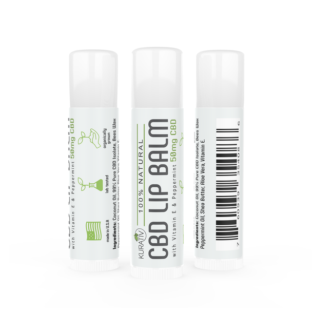Kurativ CBD lip balm is more than just a moisturizer. Blended with all natural ingredients including Vitamin E, Shea Butter and peppermint oil, this product is sure to please even the most damaged lips.