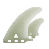 """6.5"""" + 3.6"""" Channel Islands Mid Fin- Dual Tab - Natural"""