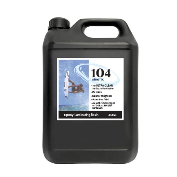 Kinetix 104 Epoxy Laminating Resin: Ultra Clear
