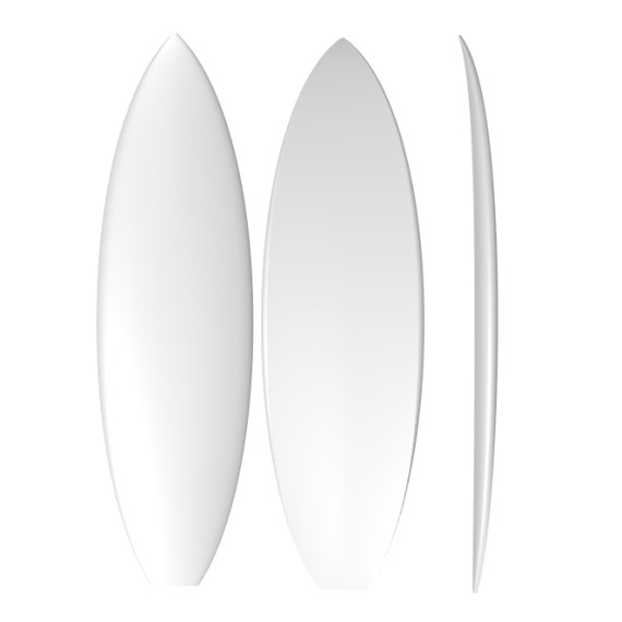 EPS Stringerless Fish XL: Machine Shaped Surfboard Blank