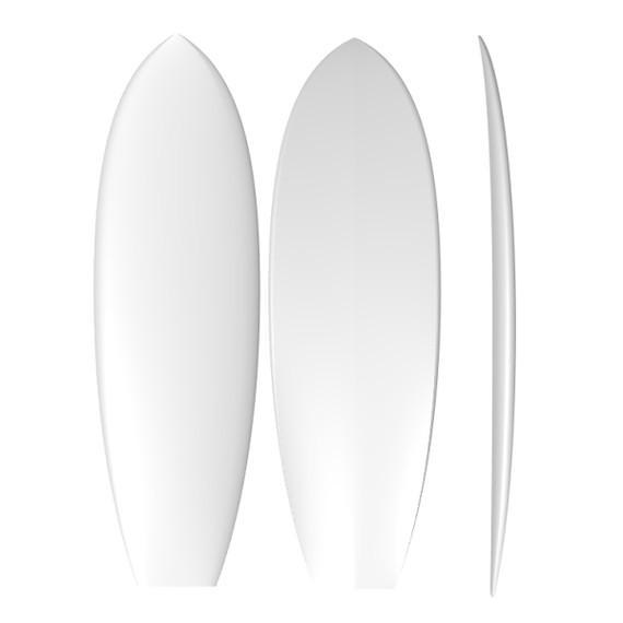 EPS Stringerless Retro Twin: Machine Shaped Surfboard Blank