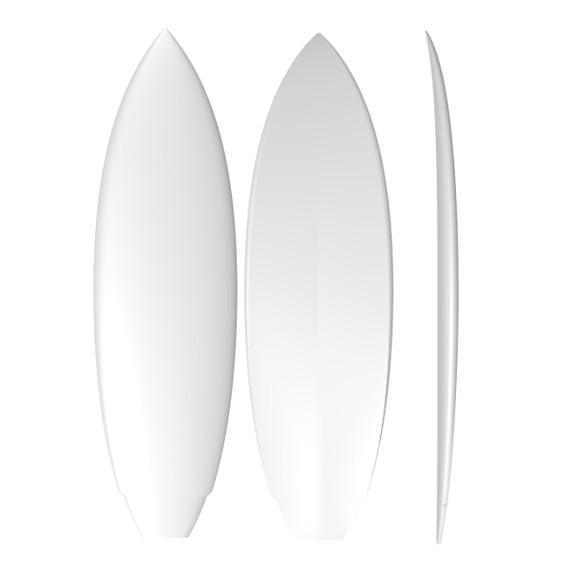 EPS Modern Twin: Machine Shaped Surfboard Blank