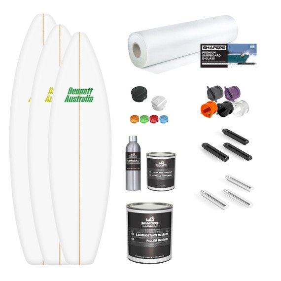Shortboard Blank and Material Kit