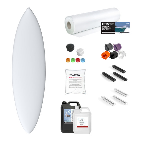 Machine Shape Blank and Material Kit: EPS SINGLE FIN