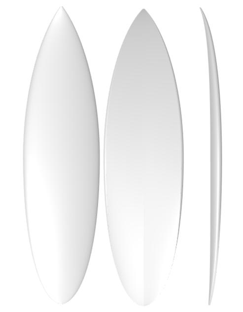 EPS Stringerless Shortboard: Machine Shaped Surfboard RT Blank