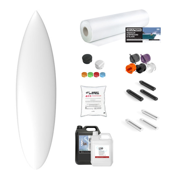 Machine Shape Blank and Material Kit: EPS SHORTBOARD ROUND TAIL