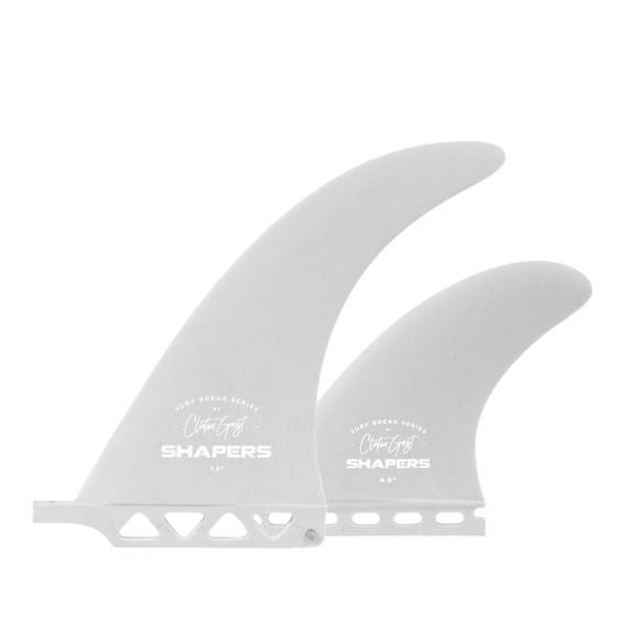 "7.3"" Clinton Guest Surf Break Series- Single Tab - Light Grey"