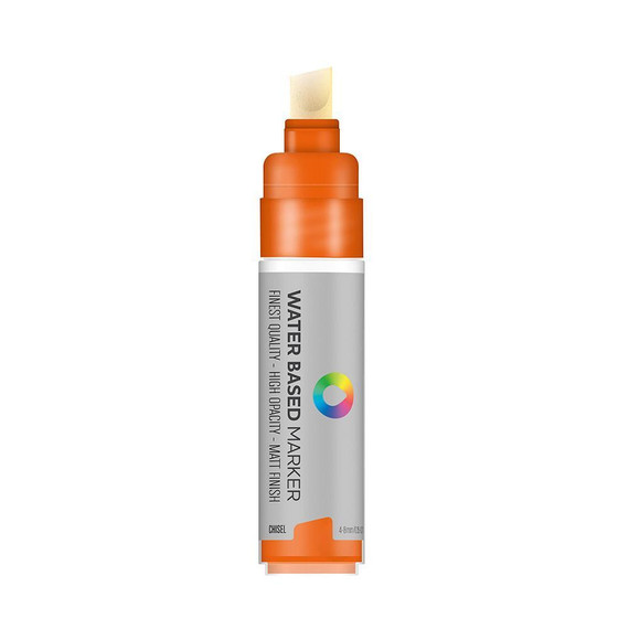 Water Based 8.0mm Chisel tip Marker - Azo Orange