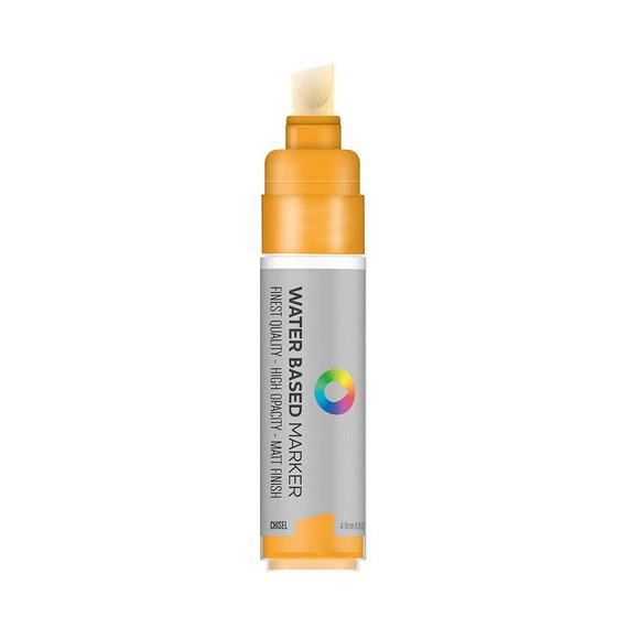 Water Based 8.0mm Chisel tip Marker - Azo Orange Light