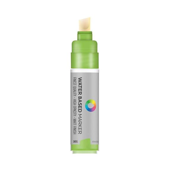 Water Based 8.0mm Chisel tip Marker - Brilliant Light Green