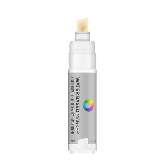 Water Based 8.0mm Chisel tip Marker - Titanium White