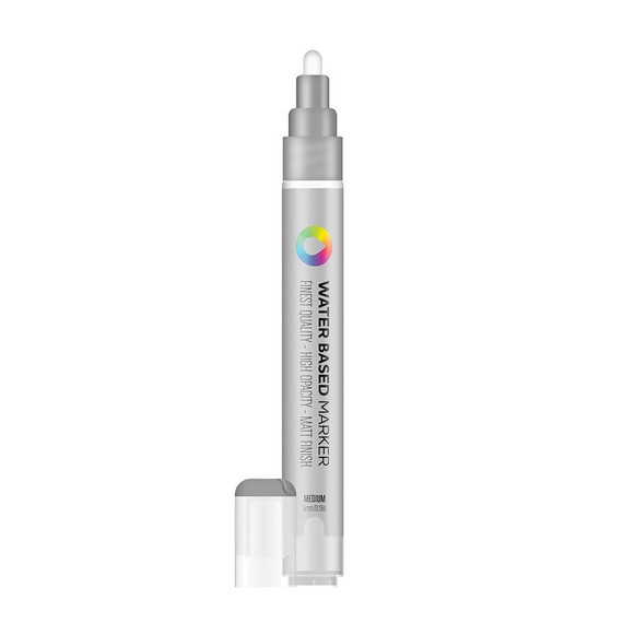 Water Based 5.0mm Marker - Silver