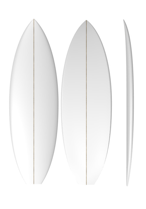 PU Crumpster: Machine Shaped Surfboard Blank