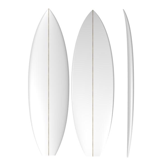 PU Groveller: Machine Shaped Surfboard Blank