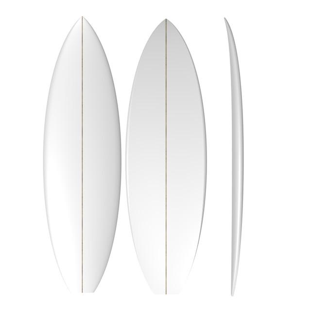 PU Fish XL: Machine Shaped Surfboard Blank