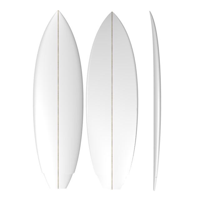 PU Modern Twin: Machine Shaped Surfboard Blank