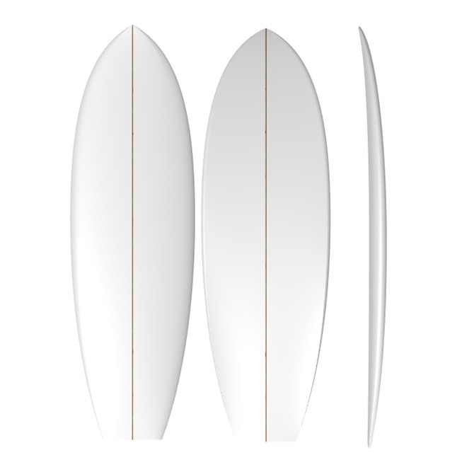 PU Retro Twin: Machine Shaped Surfboard Blank