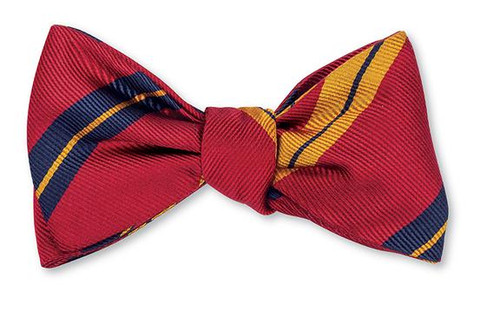 Red Oberlin Stripes Bow Tie