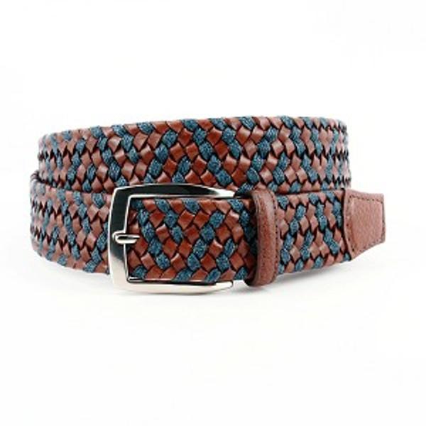 Torino Italian Braided Leather/Linen Belt