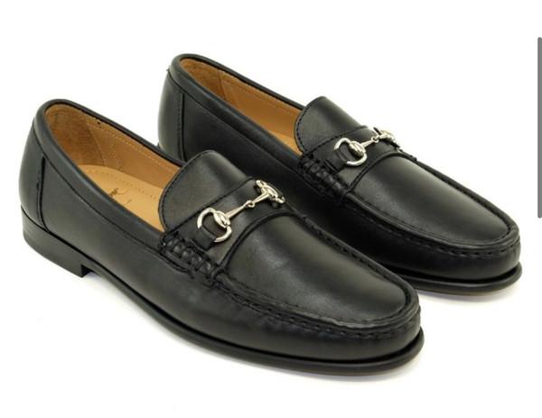 Black Snaffle Bit Loafer