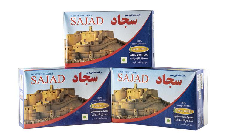Kurma Madu Rutob Sajad Gred AAA (600 gram) in packaging