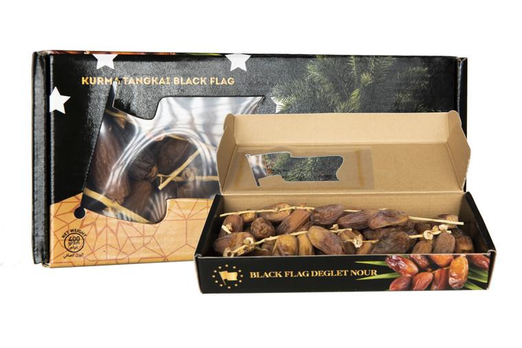 Kurma Bertangkai Deglet Nour Grade AAA (400gram) packaging