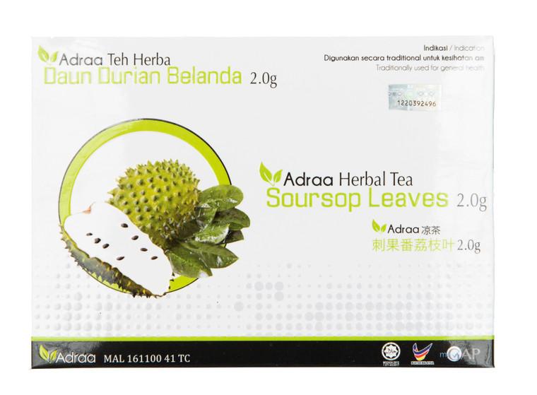 Adraa Teh Herba Daun Durian Belanda (24 Uncang)