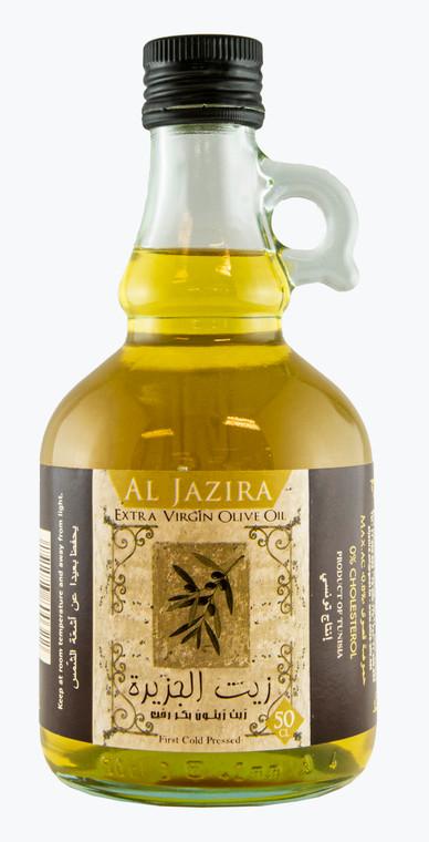 Al Jazira Extra Virgin Olive Oil 500ml Galloncino Glass Bottle