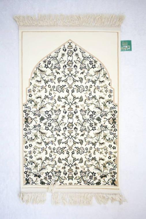 Sejadah Rawdah Zahrah Collection in cream colour
