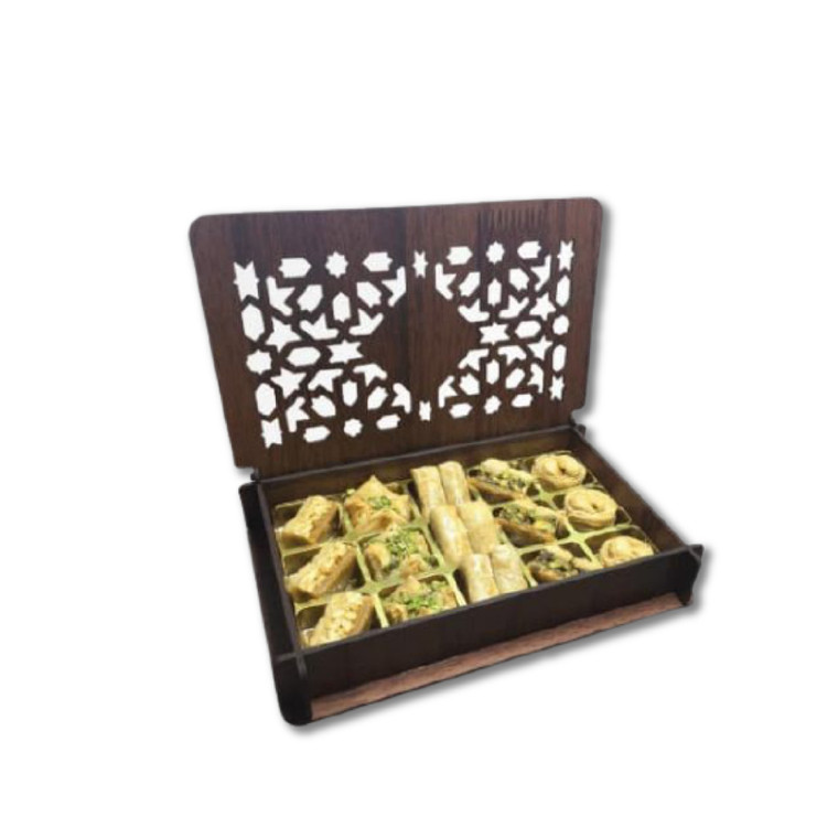 15 pieces Assorted Baklava with Exclusive Wooden Box