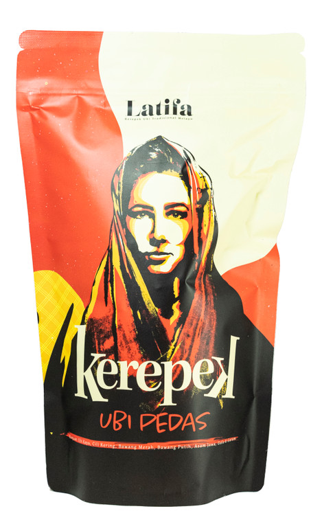 Latifa Kerepek Ubi Tradisional Melayu Pedas