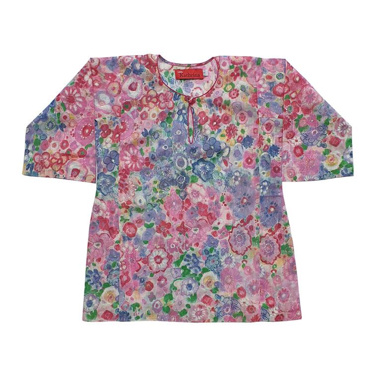 Baju Kurung Kembang for Kids in Magenta