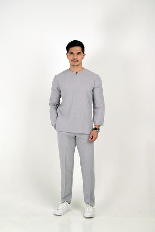 PADUKA Baju Melayu by VELRIA in Grey