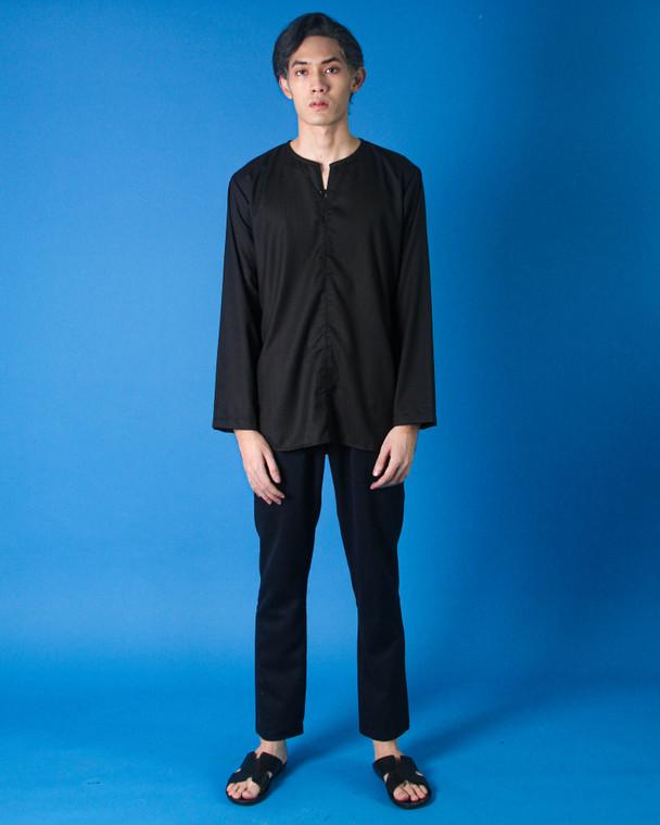 Osman Kurta by SHALS in Black