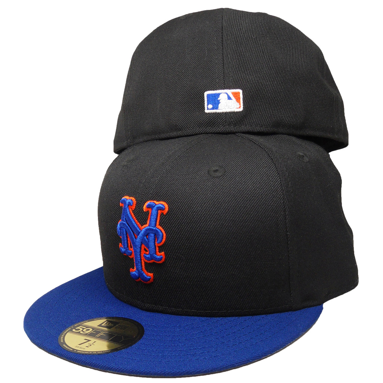 huge selection of 41248 51351 New York Mets Custom New Era 59Fifty Fitted Hat - Black, Royal, Orange