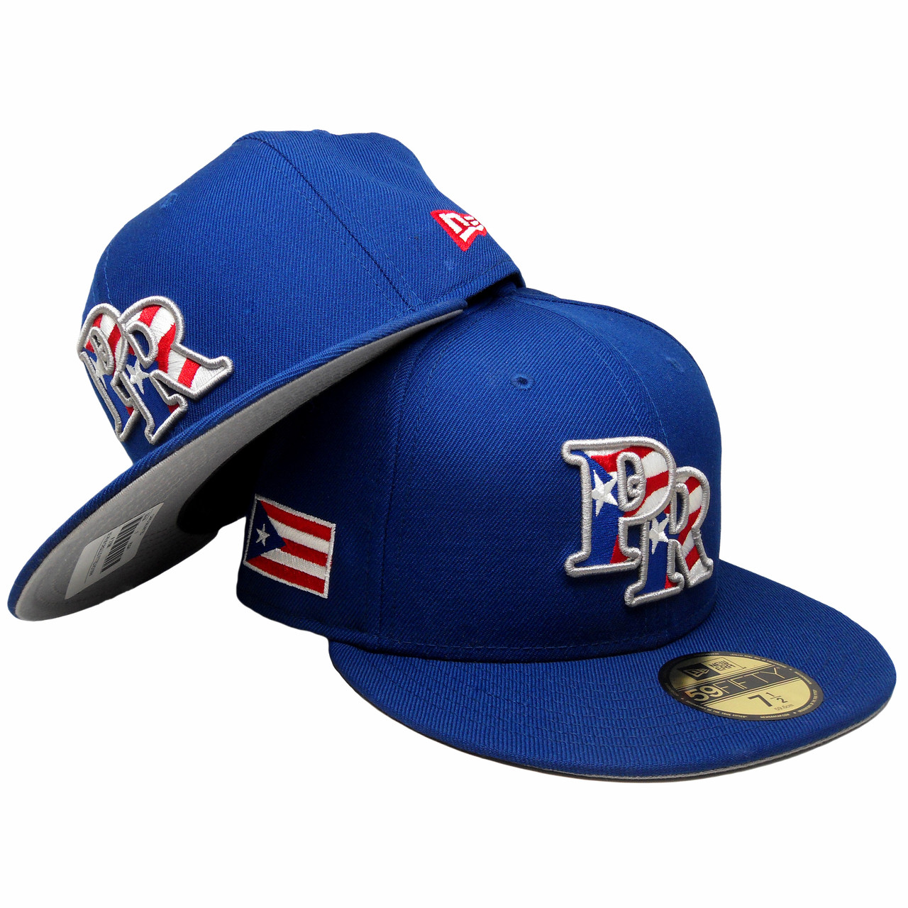 new products d8f84 2301d Puerto Rico New Era 59Fifty Custom Fitted Hat - Royal, White, Red -  ECapsUnlimited.com